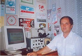ER3ED in his shack, july 2002. Автор сайта Виктор Пицман, г.Бельцы, Молдова